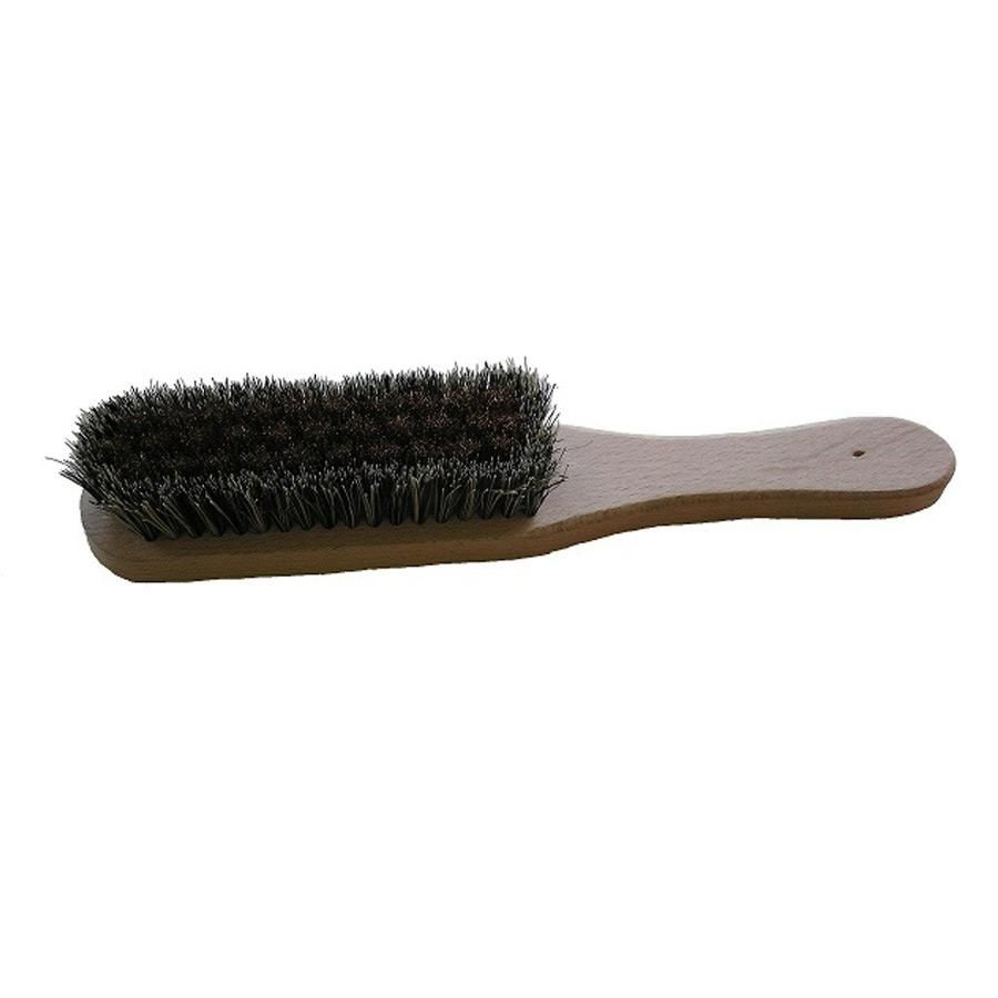 Velvet upholstery brush for use with steamer
